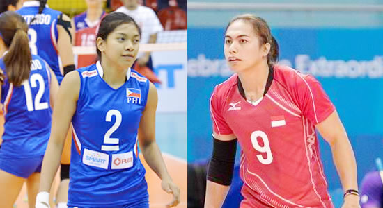 LIST: Leading scorers Philippines vs Indonesia 2018 Asian Games Volleyball Women