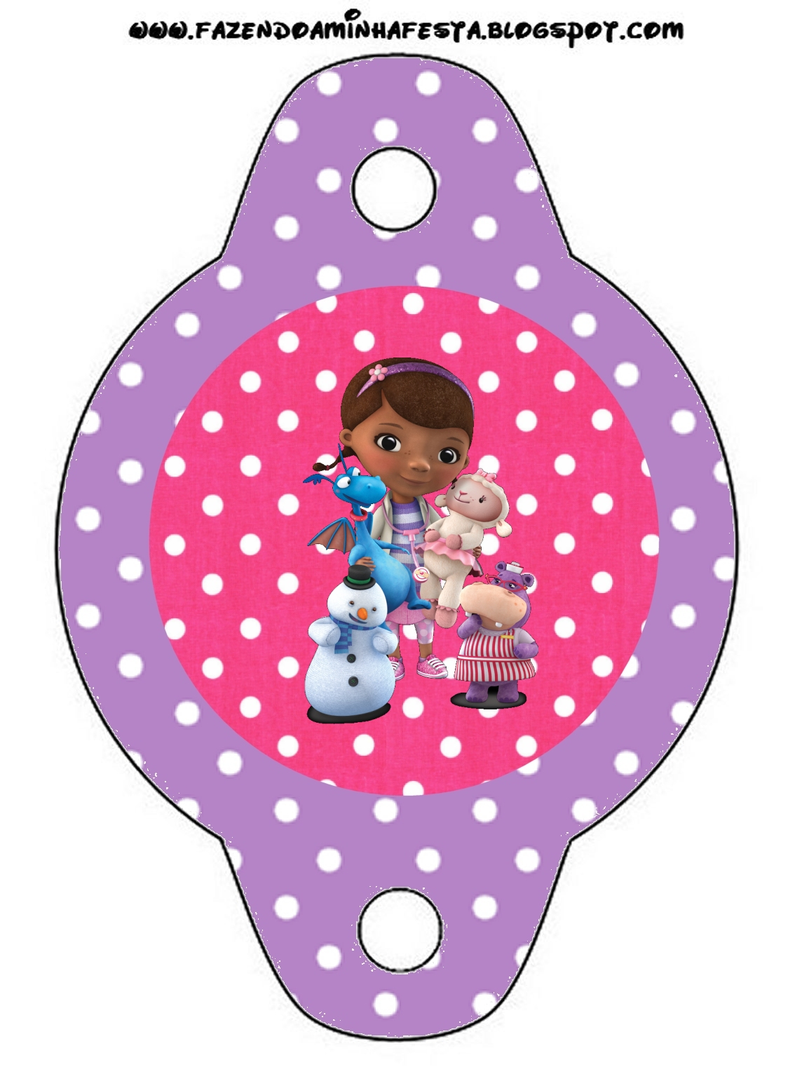 It is a photo of Accomplished Doc Mcstuffins Party Printables