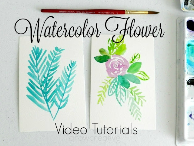Watercolor flower painting videos: growcreative