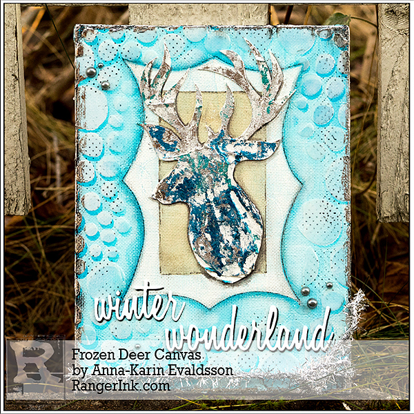 Layers of ink - Frozen Deer Mixed Media Canvas Tutorial by Anna-Karin