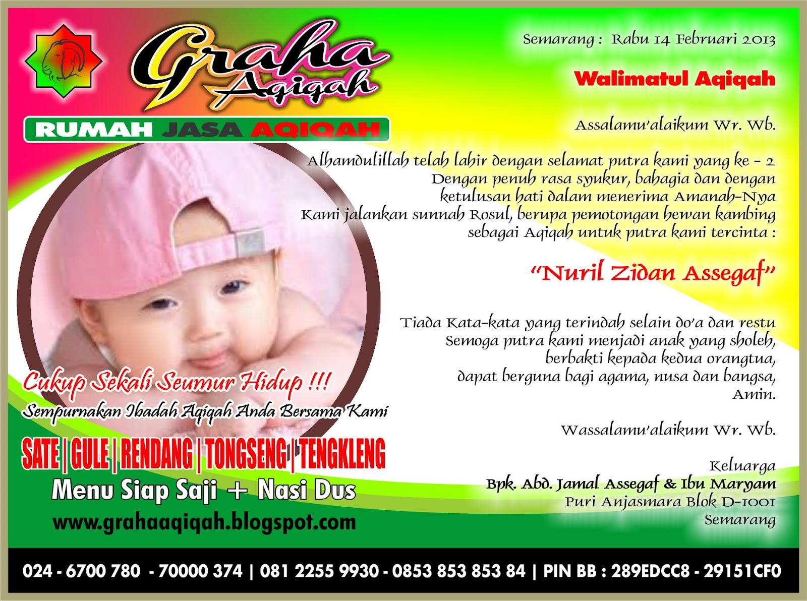 Rumah Aqiqah Semarang Kartu Syukuran Aqiqah