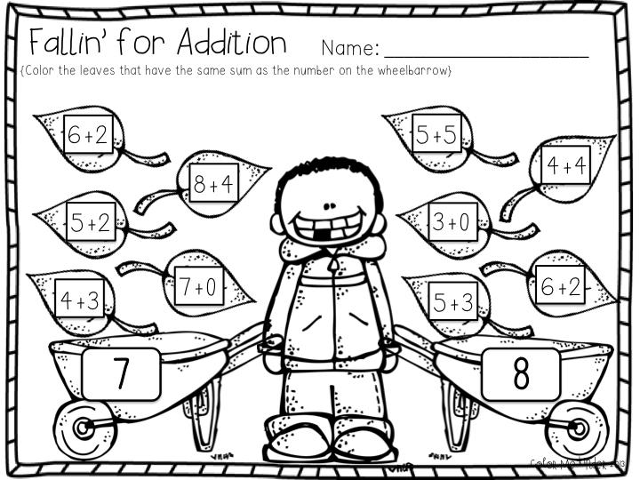 Color Me Kinder: November Math Printable Pack