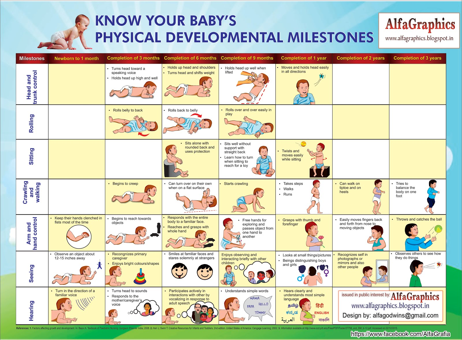 Alfagraphics Child Physical Development Chart Design