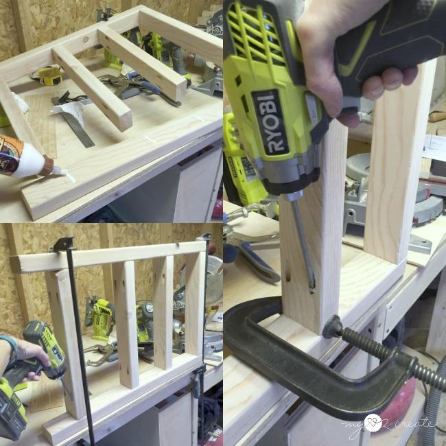 building the vanity legs