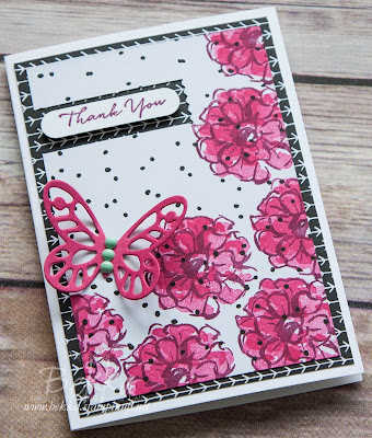 Thank You Card featuring the What I Love Stamps that are only available with a qualifying purchase until the end of March 2016.  Get them here.