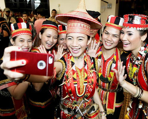 Travel.Tinuku.com Gawai Dayak Week in Pontianak celebrate thanksgiving to Jubata conducted by Dayaks tribe culture
