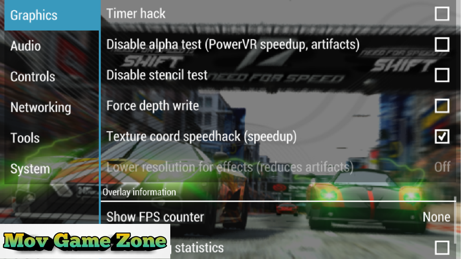 need for speed how to change settings