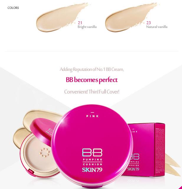 Skin79 Pink BB Pumping Cushion Color