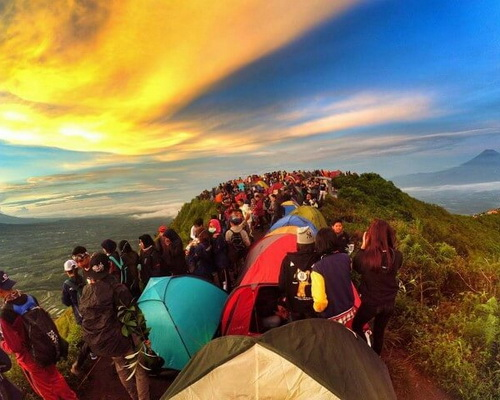 Tinuku Travel Mount Andong sunrise camping summit watching ten most legendary mountain in Indonesia
