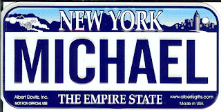 NEW YORK MICHAEL THE EMPIRE STATE NUMBER PLATE