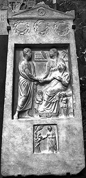Relief Batu Nisan, Pemakaman Kuno Yunani