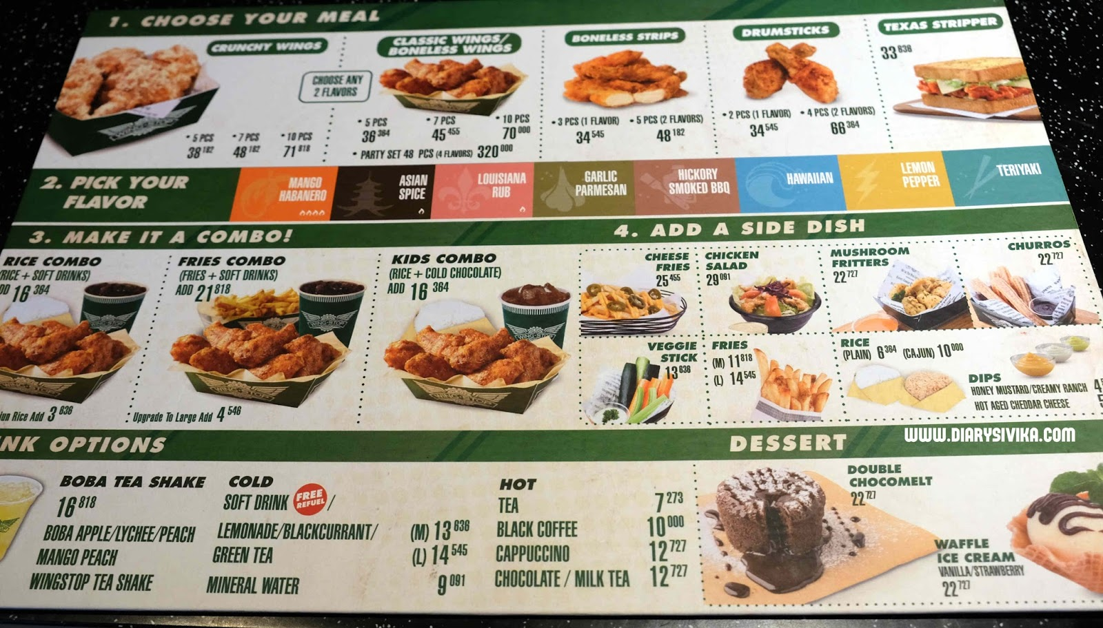 It is an image of Remarkable Wingstop Printable Menu