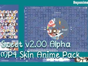 Sweet v2.00 Alpha: AIMP4 Skin Anime Pack