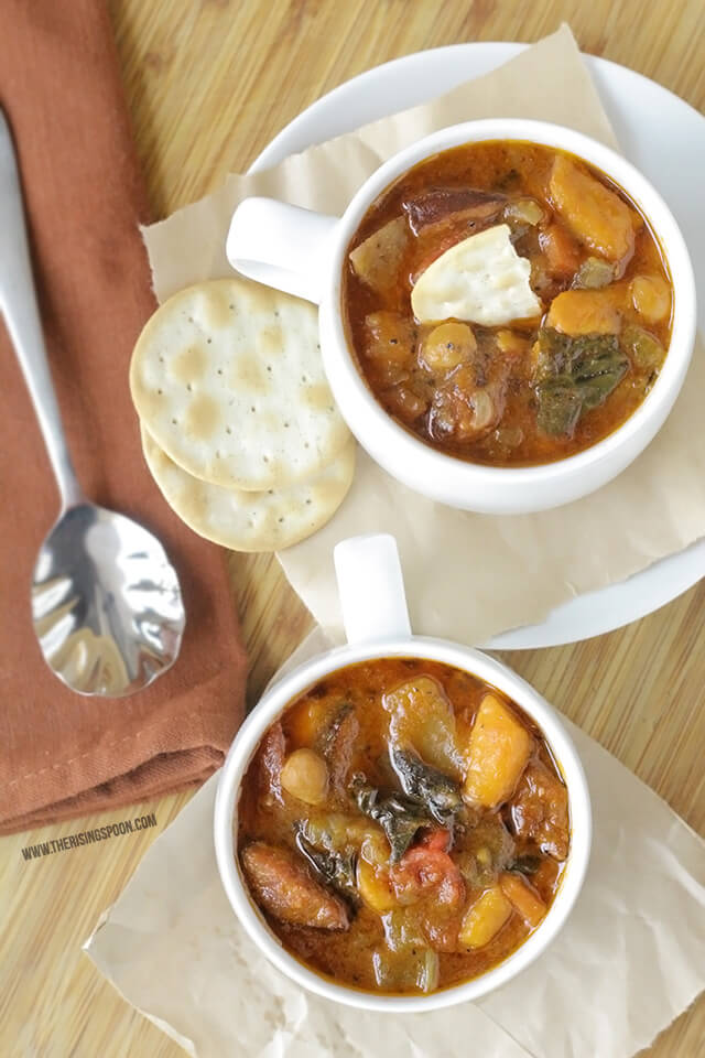 Smoked Sausage and Vegetable Soup   Real Food Recipe