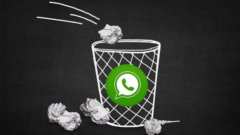 Borrar mensajes WhatsApp Aplicación