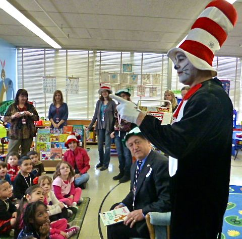 View from the Valley: Cat in the Hat, Derby officials visit