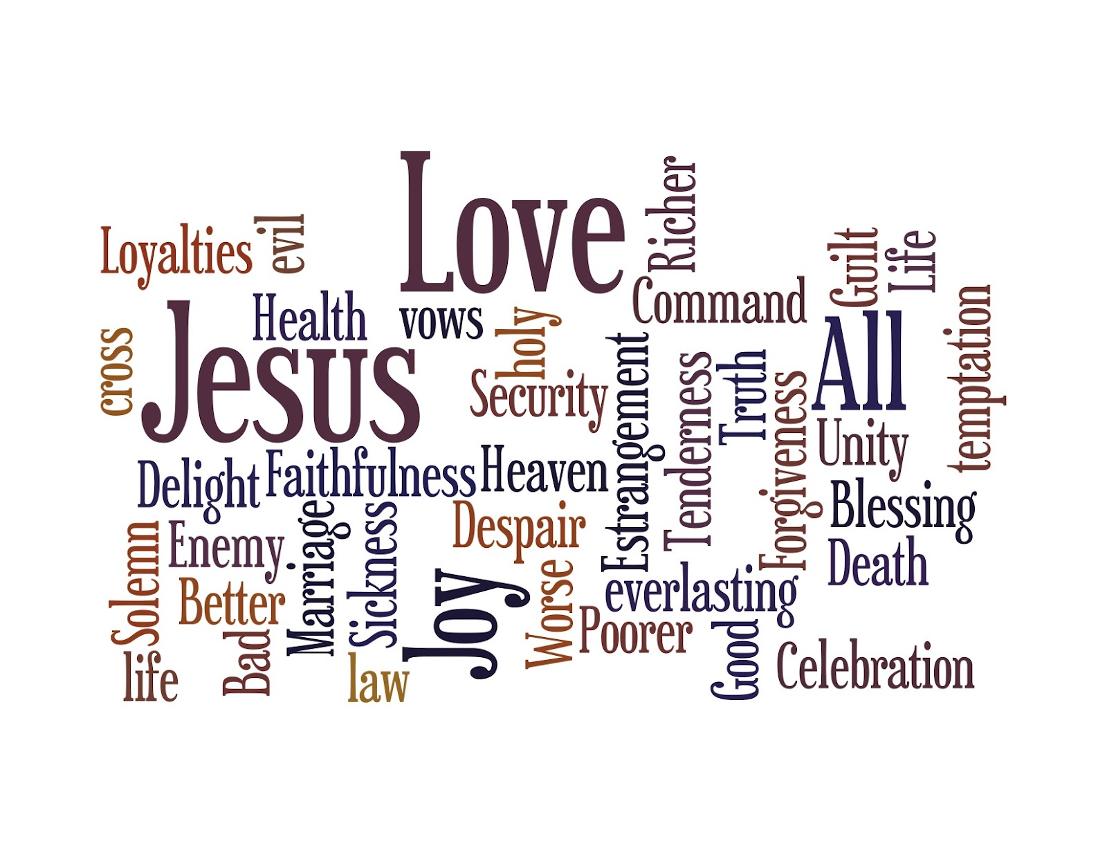 GENEralities: Wedding Words and a Wordle: a Short Homily ...
