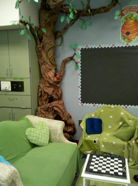 Daycare Paper Tree In Our Reading Corner: Setting Up The Classroom Series