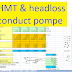 Calcul conducte pompe - HMT and headloss computing : xls
