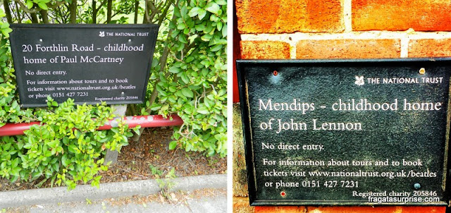Casas de John Lennon e Paul McCartney em Liverpool