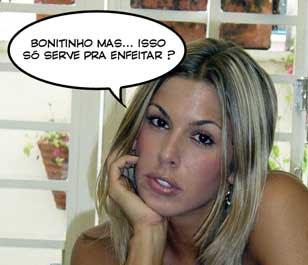 """Foto da Joana Prado dizendo : """"Bonitinho mas... isso só serve para enfeitar ?"""""""