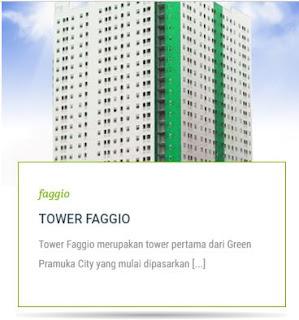 TOWER FAGGIO Apartemen Green Pramuka City