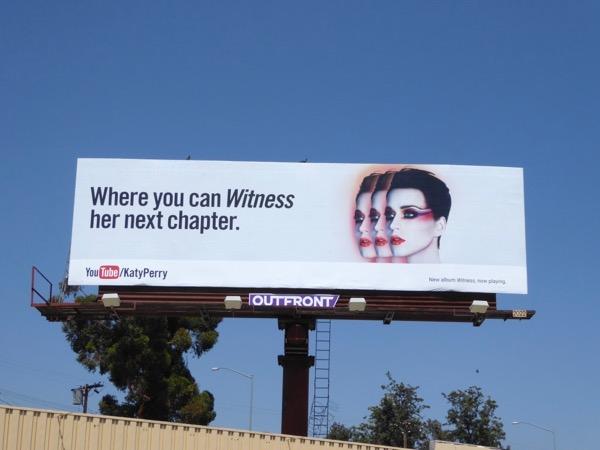 Katy Perry Witness YouTube billboard