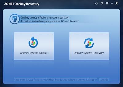 تحميل برنامج إستعادة الملفات المحذوفة AOMEI OneKey Recovery 1.5