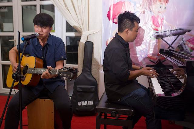 Tiết Mục biểu diễn Guitar kết hợp piano tại trường nhạc SMS Thảo Điền, Quận 2