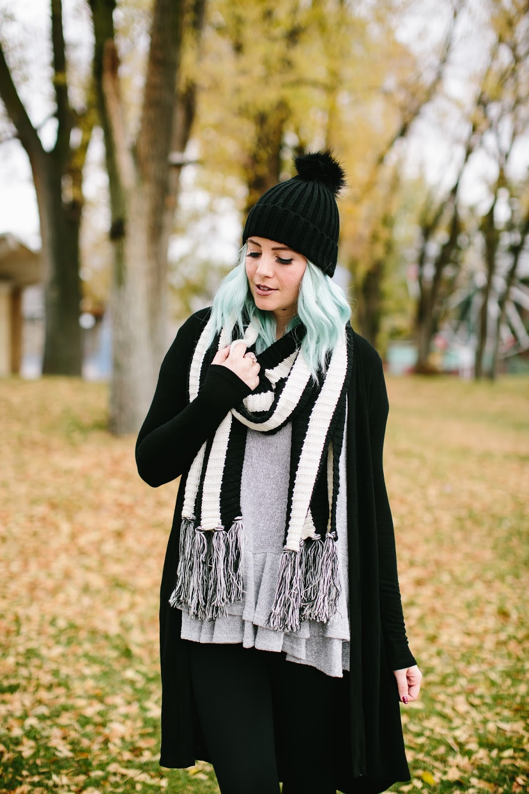Scarf, Tassel Scarf, Fashion Blogger