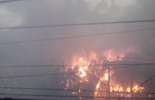Kebakaran Landa Jln. Sayrief Al Qadri, Benteng Selayar