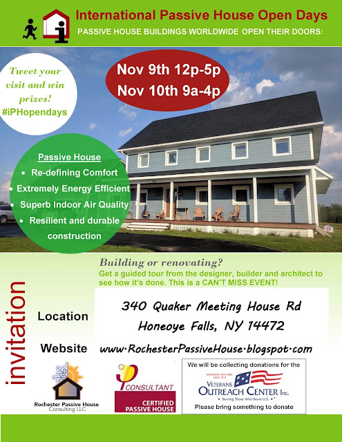 Passive House Tour Veterans Day Weekend!