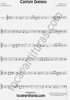 Cantate Domino Partitura de Violín Sheet Music for Violin Music Scores Music Scores