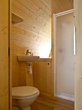 Case prefabbricate in legno con bagno