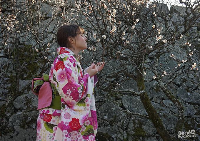 Fukuoka Kimono Walk - Maizuru park