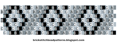 Printable Pony Bead Kandi Cuff Word Chart Pattern 11