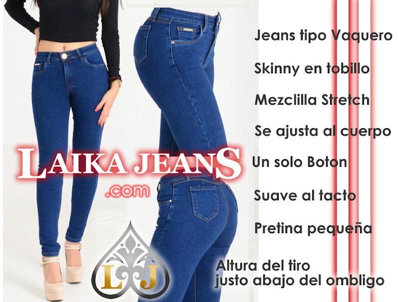 Jeans de mezclilla para mujer tipo vaquero de mayoreo de fabrica con bolsas atras