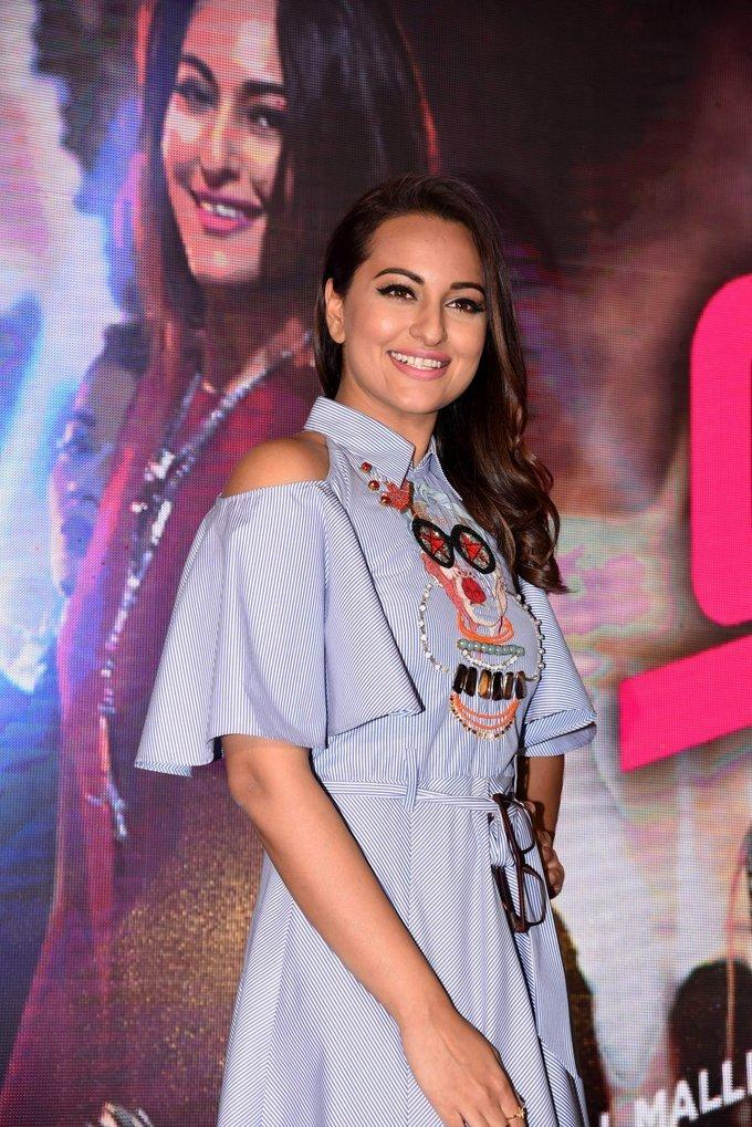 Sonakshi Sinha At Movie Song Launch In Blue Dress