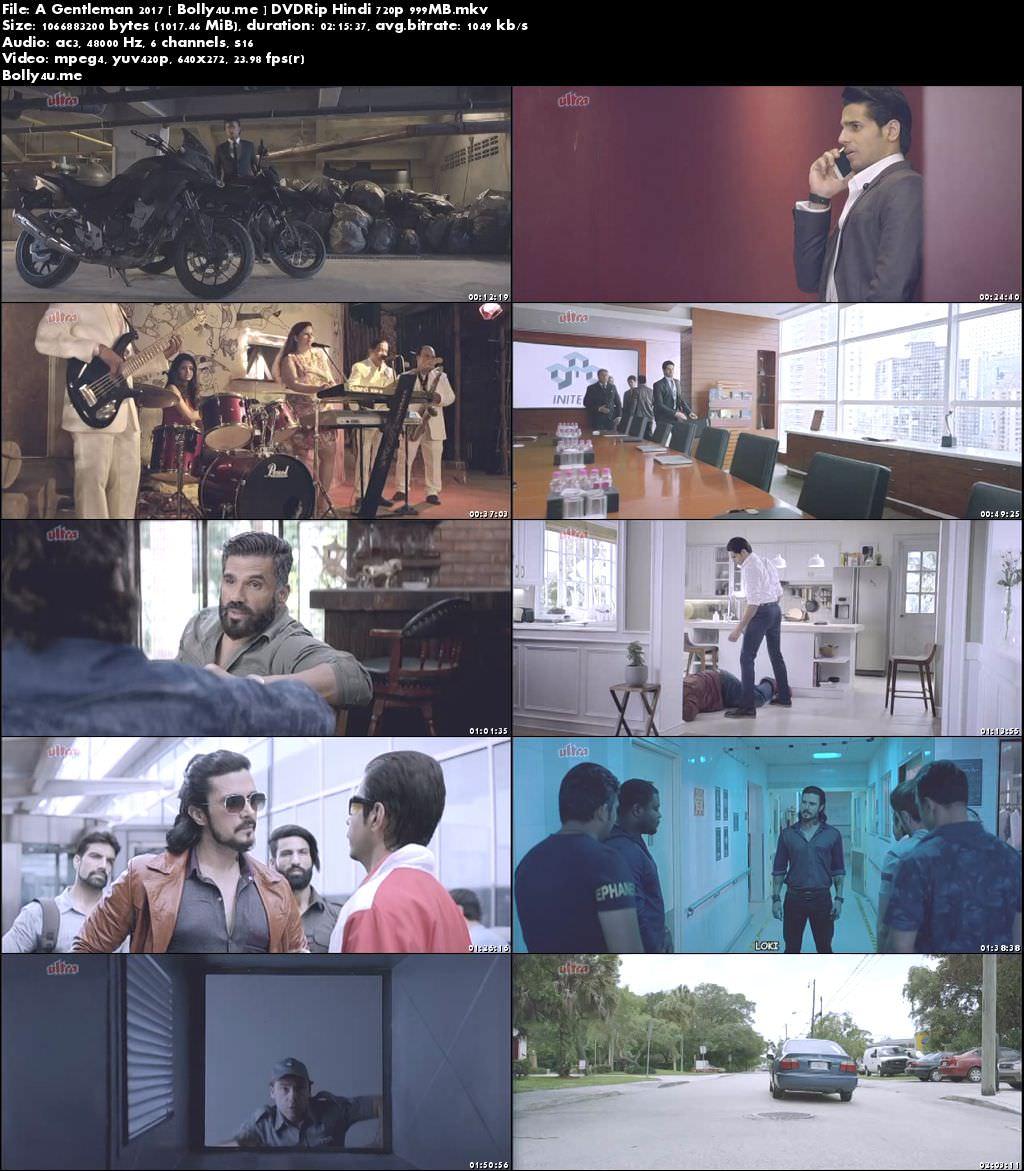 A Gentleman 2017 DVDRip 400Mb Full Hindi Movie Download 480p