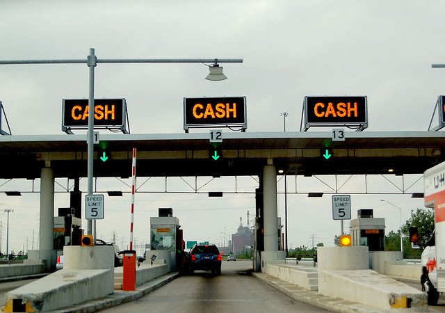 Toll booths on highways