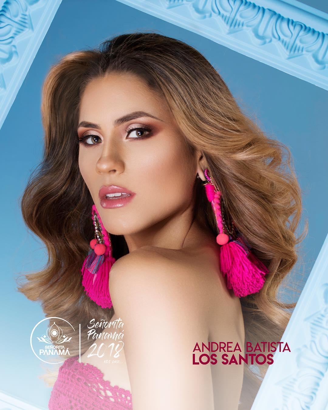 señorita miss colombia 2018 candidates candidatas contestants delegates Miss Los Santos Andrea Batista
