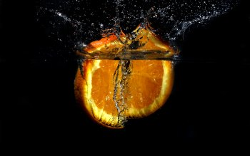 Orange Slice in Water