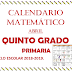 CALENDARIO MATEMÁTICO (Abril) 5° PRIMARIA
