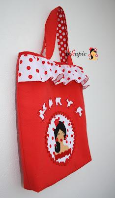 Bolso para clases de baile flamenco para niña