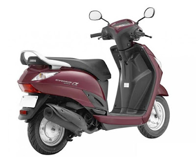 Yamaha Alpha Scooter right side rear view