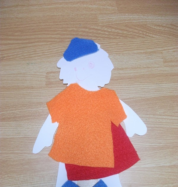 Preschool Crafts For Kids*: Felt Clothes Paper Doll Craft