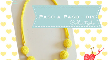 Collar tejido Amarillo - diy
