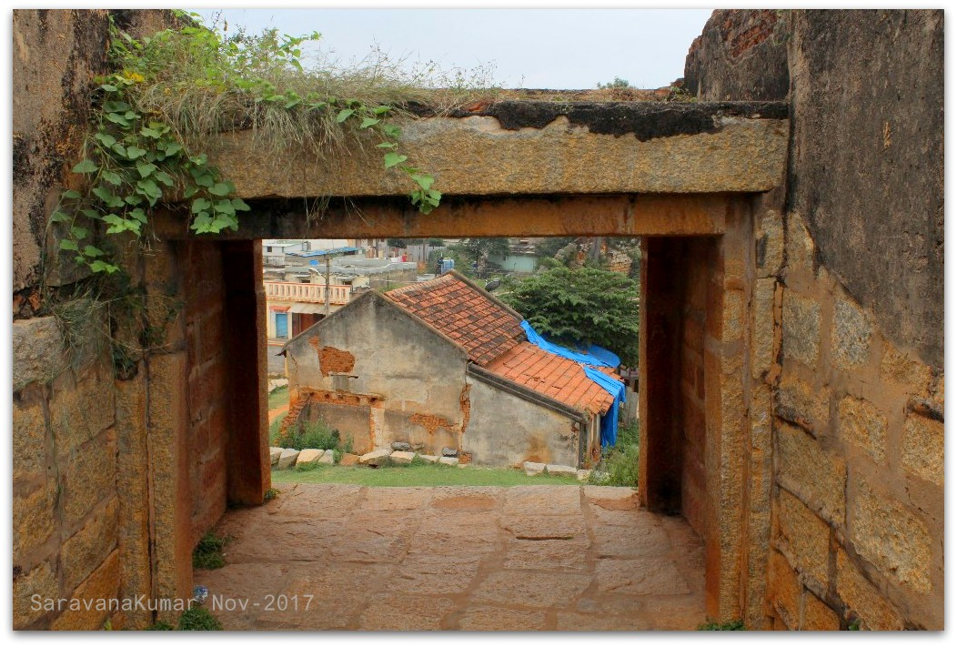 view from inside the fort