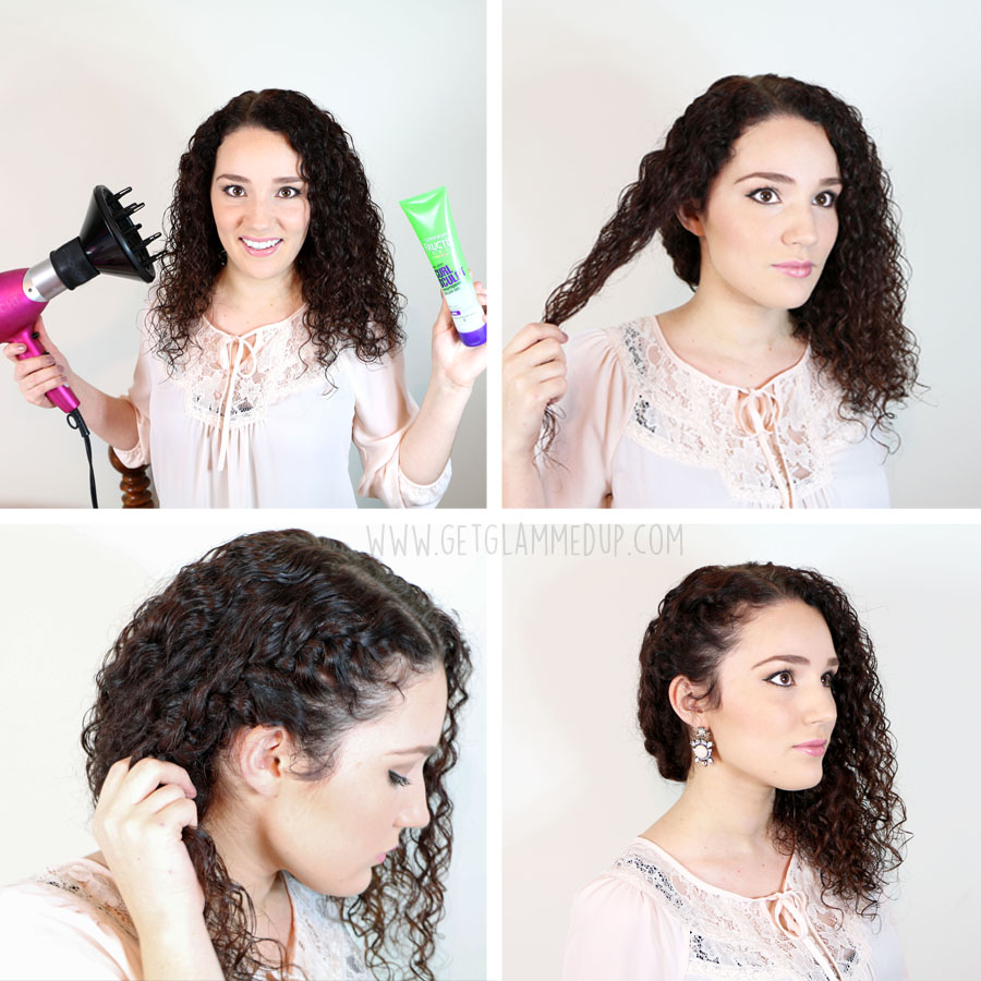 Fantastic 7 Easy Hairstyles For Curly Hair Weekly Change Ups With Garnier Hairstyle Inspiration Daily Dogsangcom