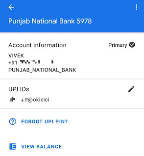 View bank balance on Google Pay
